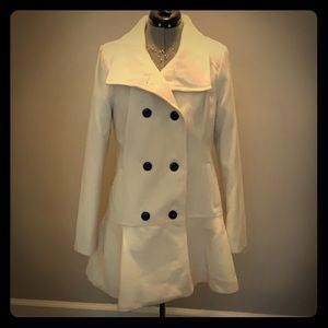 A. Byer white pea coat